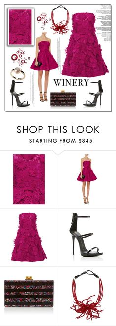 """Best Dressed Guest: Winery"" by ilona-828 ❤ liked on Polyvore featuring Costarellos, Giuseppe Zanotti, Edie Parker, Brunello Cucinelli, dress, napa, winerywedding, bestdressedguest and vineyardwedding"