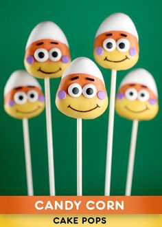 Candy Corn Cake Pops by Bakerella, via Flickr