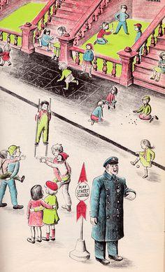City Springtime - written by Helen Kay, illustrated by Barbara Cooney Barbara Cooney, Children's Book Illustration, Book Illustrations, The Secret World, Retro Ads, Vintage Children, Childrens Books, Illustrators, Book Art