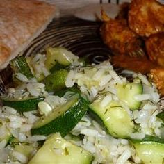 Zucchini with Rice and Dill @ http://allrecipes.com.au