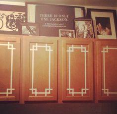 washi tape + cabinets