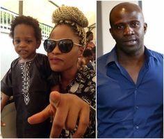 Beautiful New Photo Of Toke Makinwa's Ex-husband's Baby Mama And Son