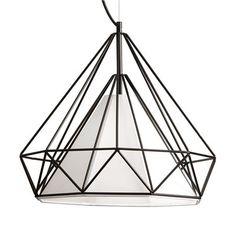 Dainolite Lighting 245 1-Light Metal Framed Pendant with Shade