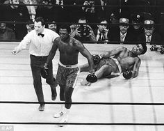 Floored: Joe Frazier beat Muhammad Ali at New York's Madison Square Garden in 1971 and