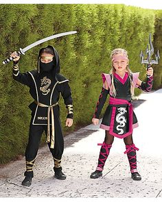 pink ninja girls and ninja warrior costumes