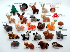 FOREST Animals, WOODLAND animals felt magnets - Price per 1 item - make your own…