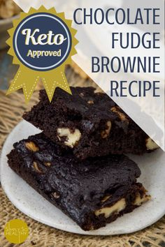Low Carb Recipes To The Prism Weight Reduction Program Our Recipe For Keto Chocolate Brownies Makes The Best Fudge Brownies. Make Them With Or Without Nuts Low-Carb, Keto, Atkins, And Gluten-Free Diet Friendly. Keto Friendly Desserts, Low Carb Desserts, Low Carb Recipes, Diabetic Desserts, Brownie Recipes, Snack Recipes, Dessert Recipes, Dessert Ideas, Brownie Ideas