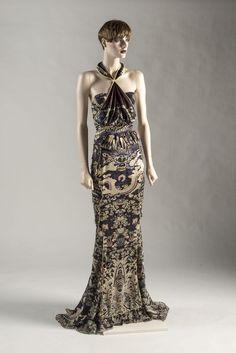 2004 - dragon print bustier & fishtail skirt by Tom Ford for Yves Saint Laurent