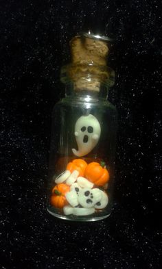 Halloween little bottle charm hanmade miniatures by Baboolyn