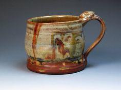 John Glick Plum Tree Pottery Stoneware Mug  by MugsMostly