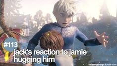 Jack Frost ✯ reasons to love Rise of the guardians. Jack has never touched anyone since he became a guardian. <3 my heart is melting...