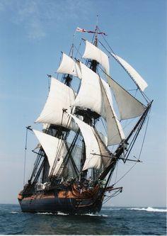 HMS Surprise Damnnnnnn would love to sail on this she's sooo pretty #surprise #tallship #sailing