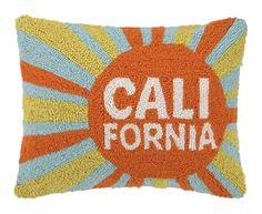 California Sun Hook Wool Throw Pillow
