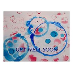 Shop Get well soon postcard created by artmiabo. Personalize it with photos & text or purchase as is! Postcard Size, Postcard Art, Postcard Design, Birthday Postcards, Selling Paintings, Dad Mug, Get Well Soon, Christmas Shopping