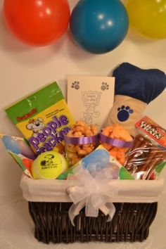 Dog Birthday Gift Basket