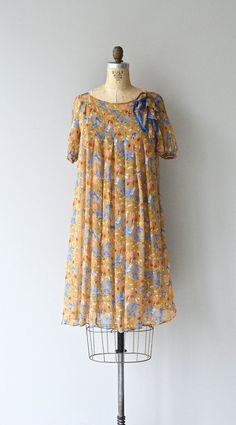 Bluebell dress vintage floral rayon dress floral by DearGolden