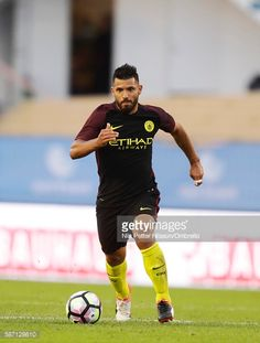 Sergio Aguero of Manchester City during the PreSeason Friendly between Arsenal and Manchester City at Ullevi on August 7 2016 in Gothenburg Sweden