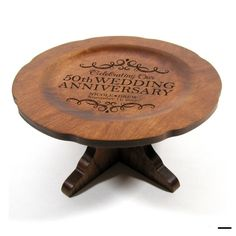 Wedding Anniversary Cherry Wood Cake Stand