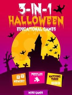 free app for kids 3 in 1 halloween educational games halloween