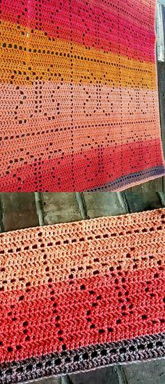 Basking Butterflies Blanket Free Crochet Pattern