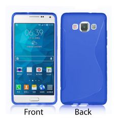 S-Line Soft Silicon Gel Case For Samsung Galaxy A5 in Blue