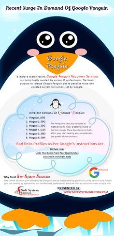 Recent surge in the demand of google penguin service Digital Marketing Services, Seo Services, Google Penguin, Search Engine Optimization