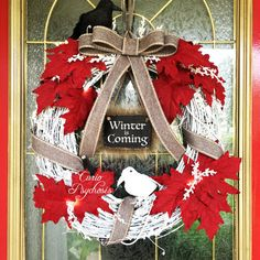 Game of Thrones Wreath Winter is Coming Jon Snow by CurioPsychosis