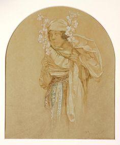 Allegorie des Frühlings - Alphonse Mucha