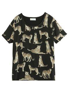 leopard print chiffon t, choies