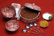 Marbelized Splatterware Enamelware Dishes, Baking & Serving Pieces by Crow Canyon (CGS International)