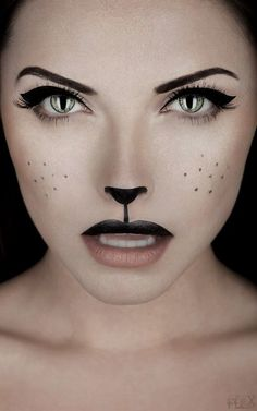 Sweet cat make-up.