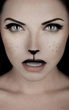 Sweet cat make-up.