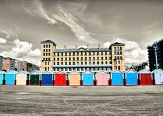 colourful beach huts - brighton seafront #brighton photograph by Jeremy Hughes