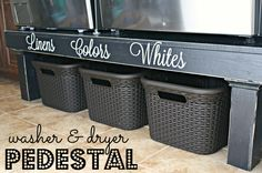 I always knew that when I finally got a front loading washer and dryer I would want a pedestal for them. Well when we moved into our new home we also got that front loading washer and dryer. It too…