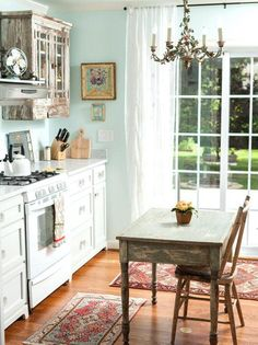 Vintage Shabby Chic Kitchen Cabinets 56