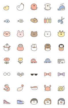 My cute things Cute Small Drawings, Mini Drawings, Kawaii Drawings, Doodle Drawings, Cartoon Stickers, Cute Stickers, Wallpaper Iphone Cute, Cute Wallpapers, Cute Doodles