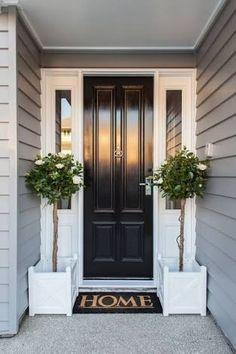 70 Best Modern Farmhouse Front Door Entrance Design Ideas 59 – Home Design Front Door Entrance, Front Door Colors, House Entrance, Front Door Plants, Entry Doors, Front Door Entry, Front Door Handles, Front Entrances, Main Entrance