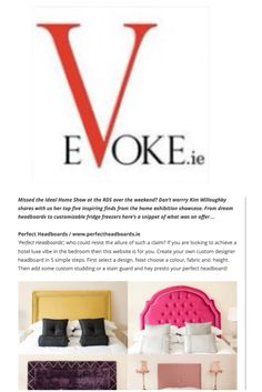 Perfect headboards in In Evoke Magazine