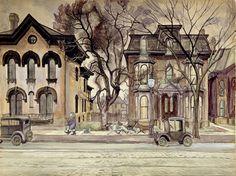 one of my favorites,  Charles Burchfield 'Promenade'