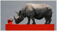 The Art of Zheng Hongxiang Rhinoceros, Beast, Eye Candy, Sculptures, Elephant, Bible, Rhinos, Gallery, Drawings