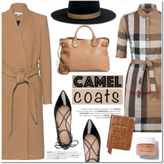 Wear a Camel Coat! by helenevlacho on Polyvore featuring Mode, Burberry, IRO, Kate Spade, Janessa Leone, Aspinal of London, contestentry and camelcoat