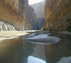 St Helena Canyon Big Bend National Park on a canoe-camping trip
