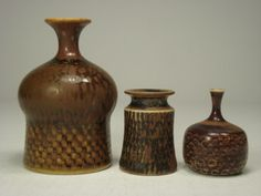 Small vases by Stig Lindberg for Gustavsberg