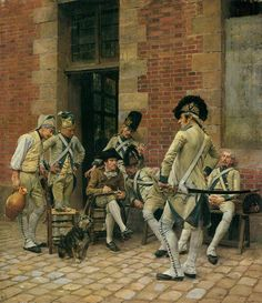 """The White"": French Infantry, 1791 (Meissonier)"