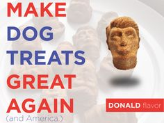 Fed up with politicians? Now your dog can get fed up with these Boneheads too. Dog biscuits with integrity.