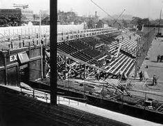 """Navin Field, Detroit, 1936 - Bleachers are added in left field as ballpark is greatly expanded Major League Baseball Teams, Baseball Park, Tigers Baseball, Baseball Photos, Baseball Field, Tiger Stadium, Sports Stadium, Hector Gonzalez, Detroit Tigers"