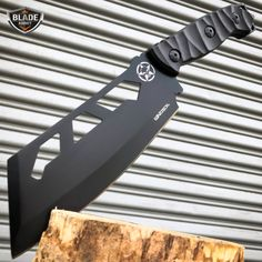 "11"" Tactical FIXED BLADE Full Tang CLEAVER Hunting Survival Knife w/ Sheath New - MEGAKNIFE"