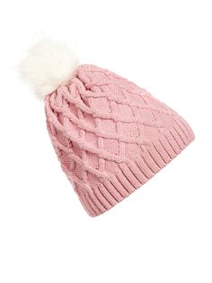 d8cedde456c Thick Knit Bobble Hat Winter Knit Hats