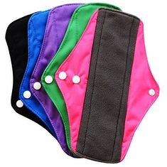 Pixie Pads - Ranked 1 for Most Soft Reusable Menstrual Pads - Includes Cloth Wet Bag for Panty Liners - Medium Flow (Pack of Always Pads, Period Pads, Sanitary Napkin, Menstrual Pads, Cloth Pads, Wet Bag, Napkins Set, Pixie, Baby Car Seats