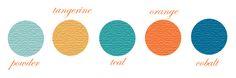 I like these colors together (minus the orange).